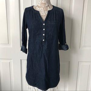 Express Small S Dark Denim Tunic Dress NWT